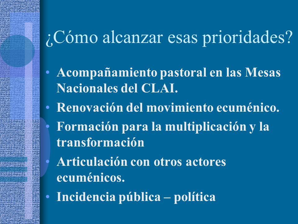 Acompañamiento pastoral en las Mesas Nacionales del CLAI.