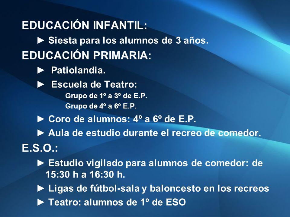 EDUCACIÓN INFANTIL: Siesta para los alumnos de 3 años.