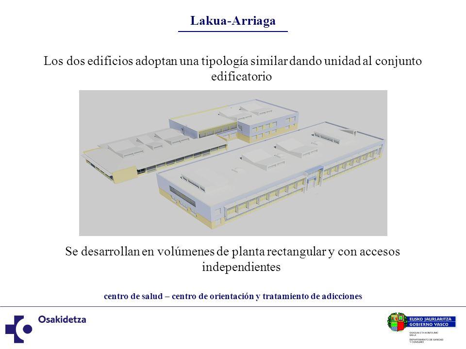 centro de salud – centro de orientación y tratamiento de adicciones Lakua-Arriaga centro de salud El edificio destinado a albergar el Centro de Salud se desarrolla en dos plantas sobre rasante.
