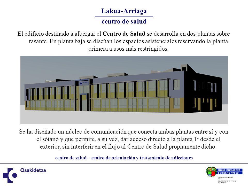 centro de salud – centro de orientación y tratamiento de adicciones Lakua-Arriaga centro de salud El edificio destinado a albergar el Centro de Salud