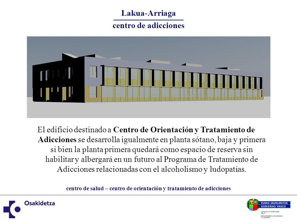 centro de salud – centro de orientación y tratamiento de adicciones Lakua-Arriaga centro de adicciones El edificio destinado a Centro de Orientación y