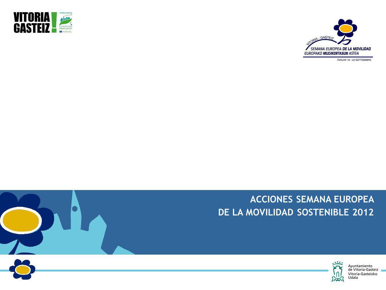 ACCIONES SEMANA EUROPEA DE LA MOVILIDAD SOSTENIBLE 2012