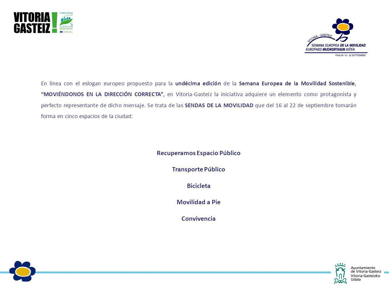En línea con el eslogan europeo propuesto para la undécima edición de la Semana Europea de la Movilidad Sostenible, MOVIÉNDONOS EN LA DIRECCIÓN CORREC