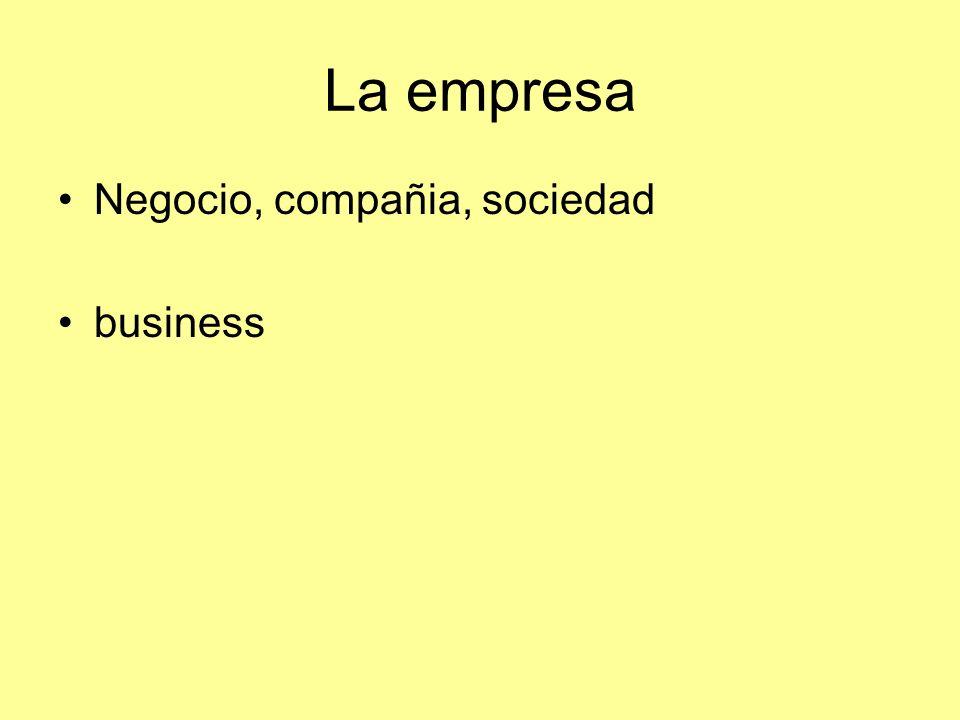 La empresa Negocio, compañia, sociedad business