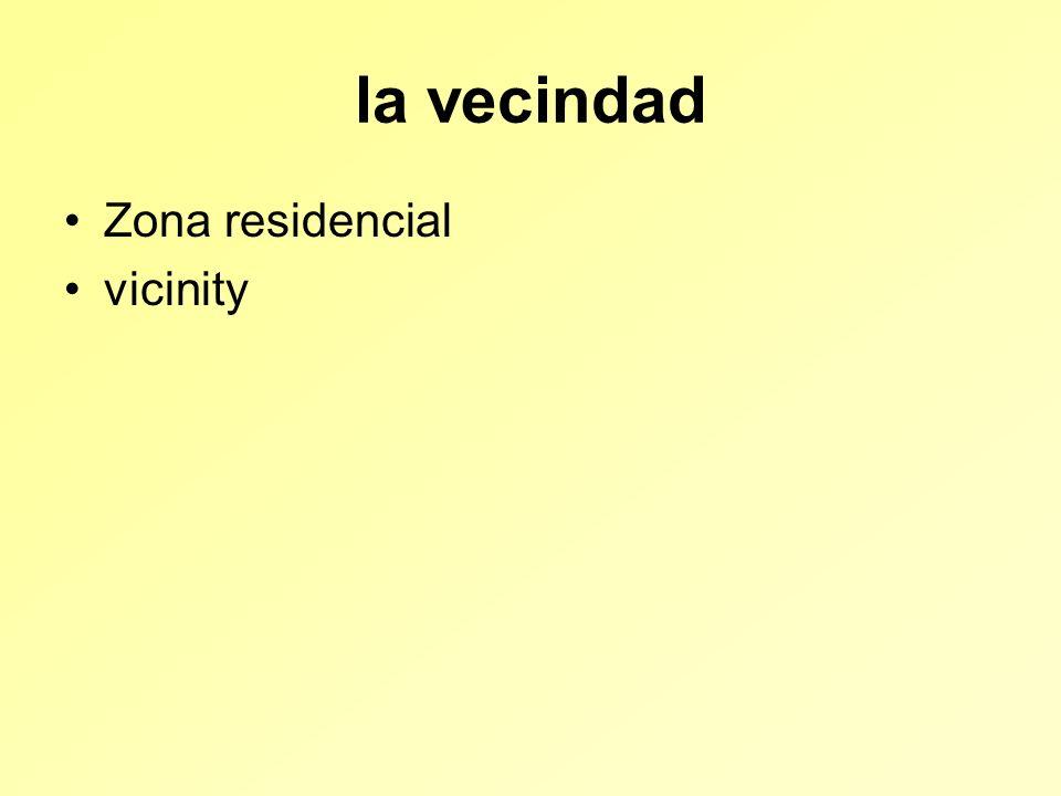 la vecindad Zona residencial vicinity