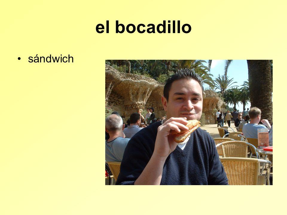 el bocadillo sándwich