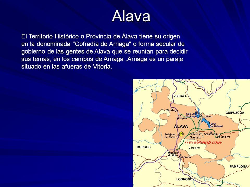 Alava El Territorio Histórico o Provincia de Álava tiene su origen en la denominada
