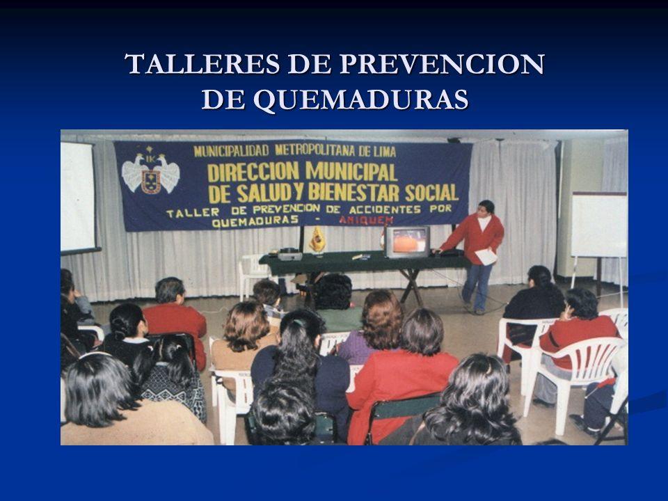 TALLERES DE PREVENCION DE QUEMADURAS