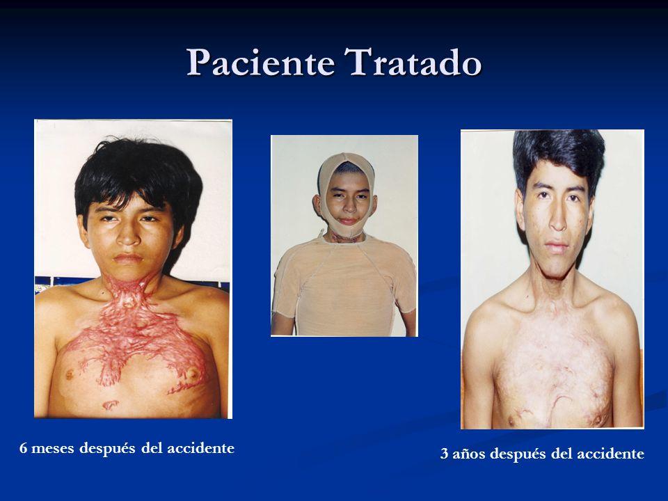 Paciente Tratado 6 meses después del accidente 3 años después del accidente
