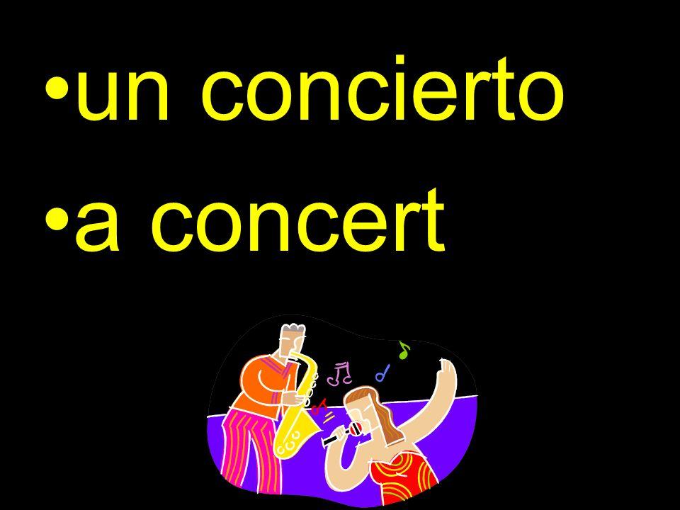 un concierto a concert