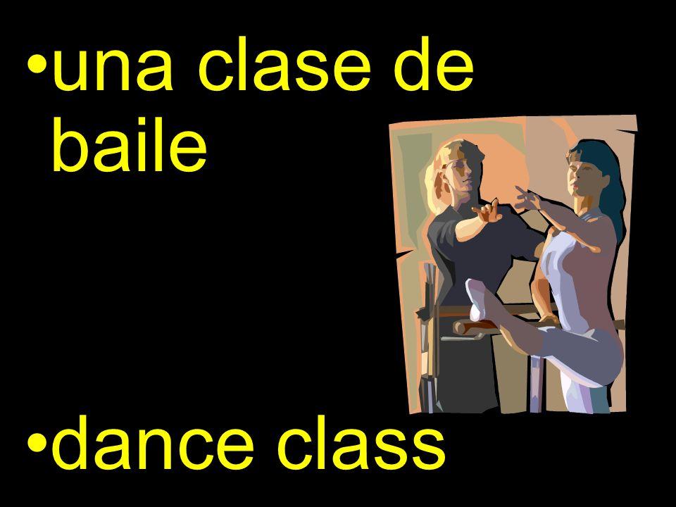 una clase de baile dance class