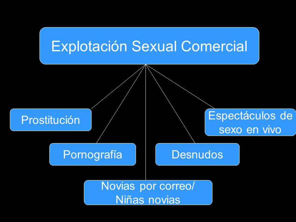 Explotación Sexual Comercial Prostitución PornografíaDesnudos Espectáculos de sexo en vivo Novias por correo/ Niñas novias