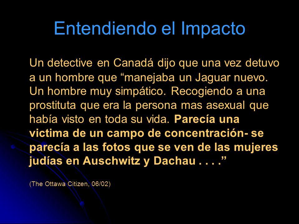 Entendiendo el Impacto Un detective en Canadá dijo que una vez detuvo a un hombre que manejaba un Jaguar nuevo.