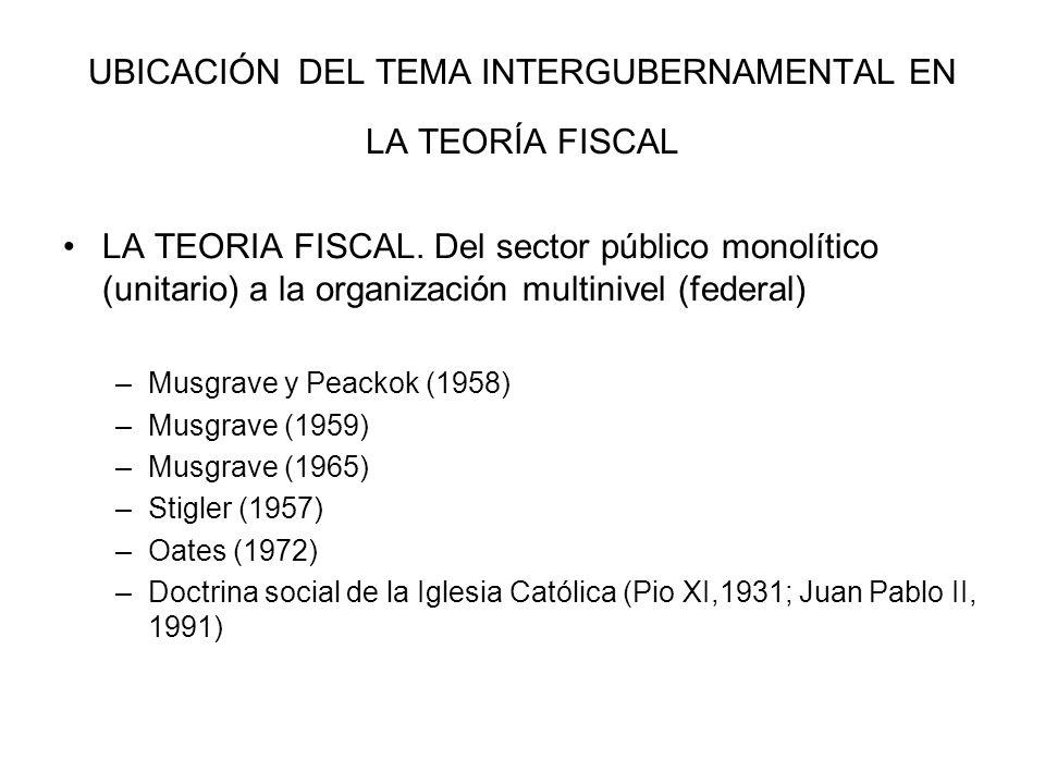 ASPECTOS CONCEPTUALES.DEL SECTOR PUBLICO MONOLÍTICO AL SECTOR PÚBLICO MULTINIVEL.