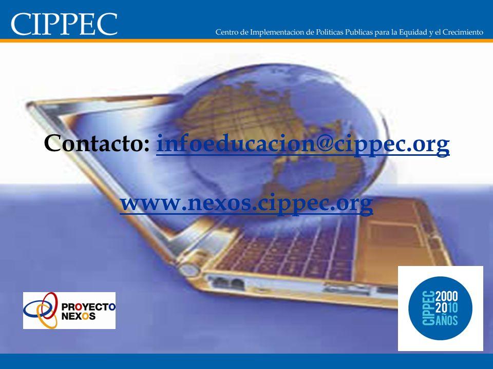 Contacto: infoeducacion@cippec.org www.nexos.cippec.orginfoeducacion@cippec.org www.nexos.cippec.org