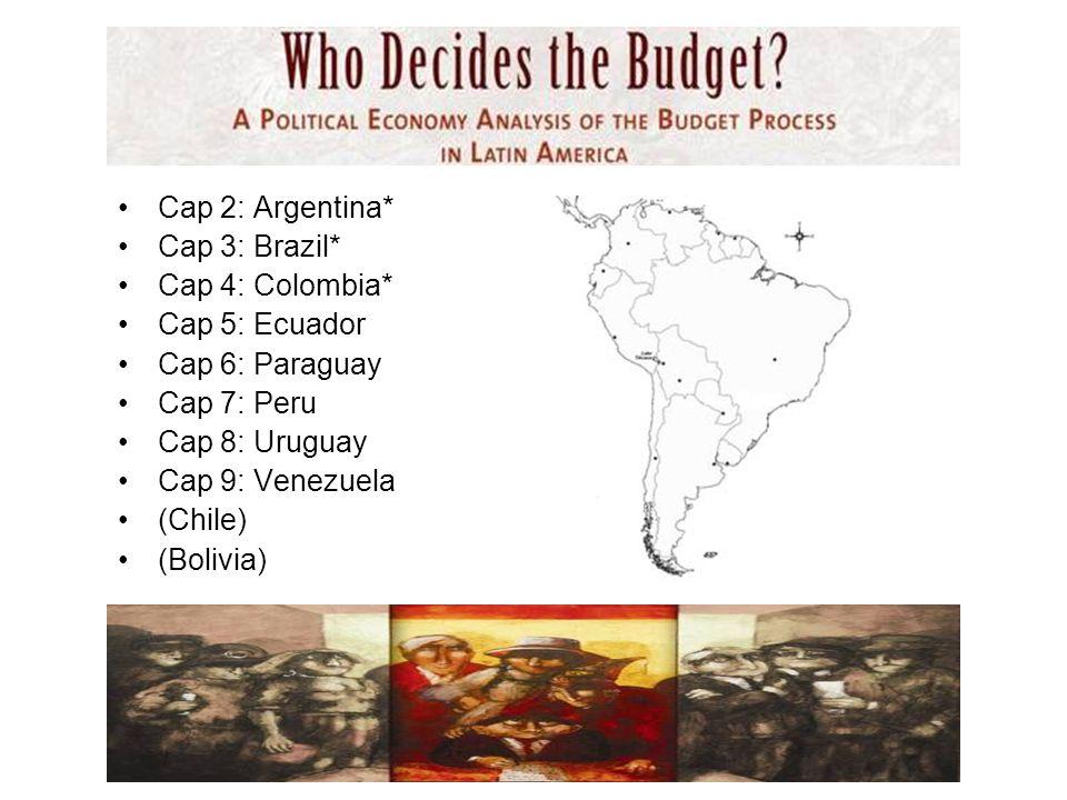 Cap 2: Argentina* Cap 3: Brazil* Cap 4: Colombia* Cap 5: Ecuador Cap 6: Paraguay Cap 7: Peru Cap 8: Uruguay Cap 9: Venezuela (Chile) (Bolivia)