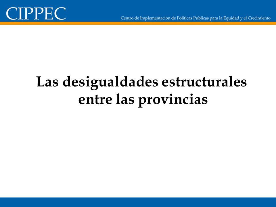 Las desigualdades estructurales entre las provincias