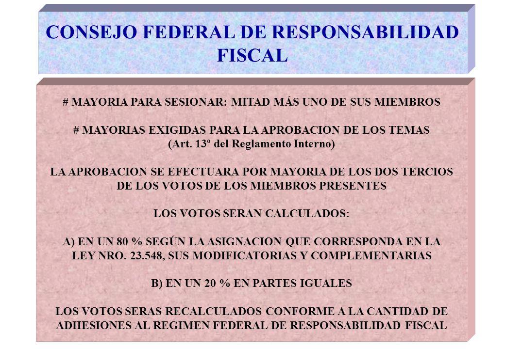 CONSEJO FEDERAL DE RESPONSABILIDAD FISCAL EL CFRF COMENZÓ SUS FUNCIONES EN 2005 PRIMERA ETAPA: CONSOLIDACIÓN DE ASPECTOS ORGANIZATIVOS, ADMINISTRATIVOS Y OPERATIVOS TENDIENTES A DOTAR: -RECURSOS HUMANOS -RECURSOS MATERIALES -RECURSOS FINANCIEROS -PROCEDIMIENTOS
