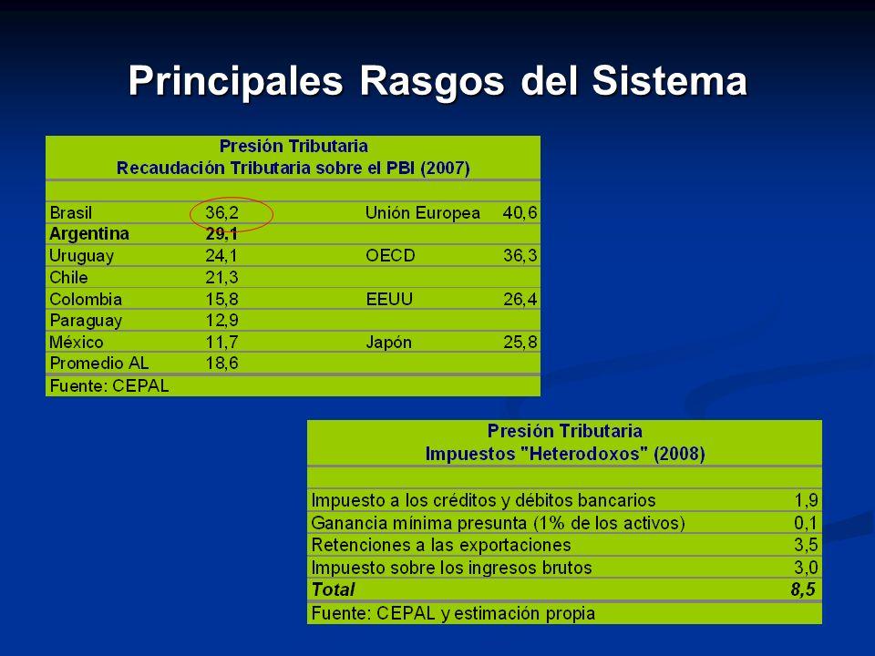 Principales Rasgos del Sistema
