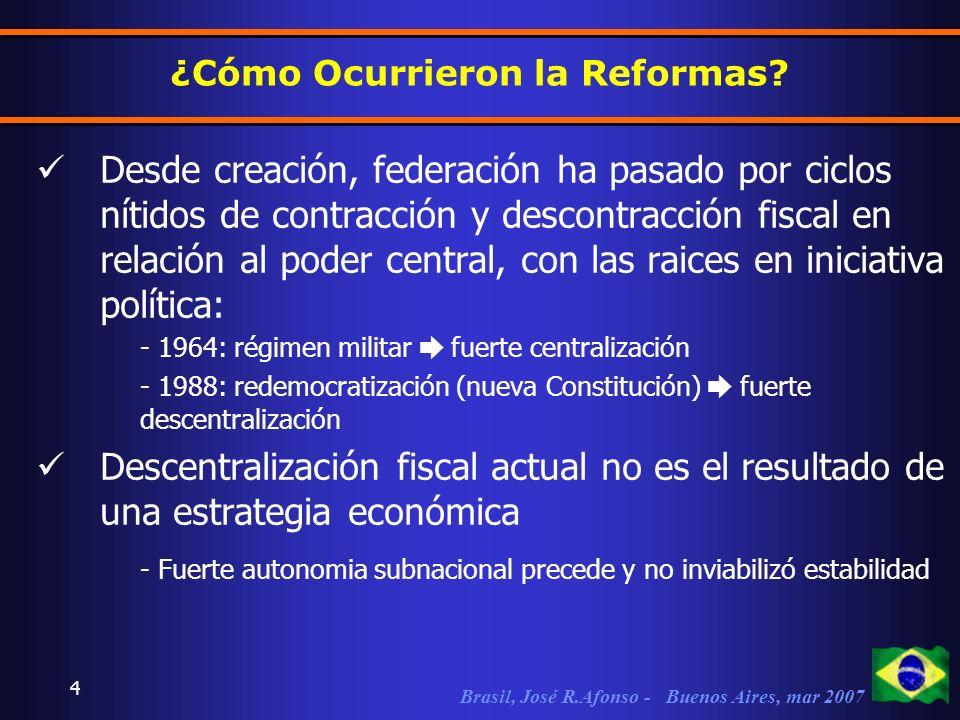 Brasil, José R.Afonso - Buenos Aires, mar 2007 4 ¿Cómo Ocurrieron la Reformas.