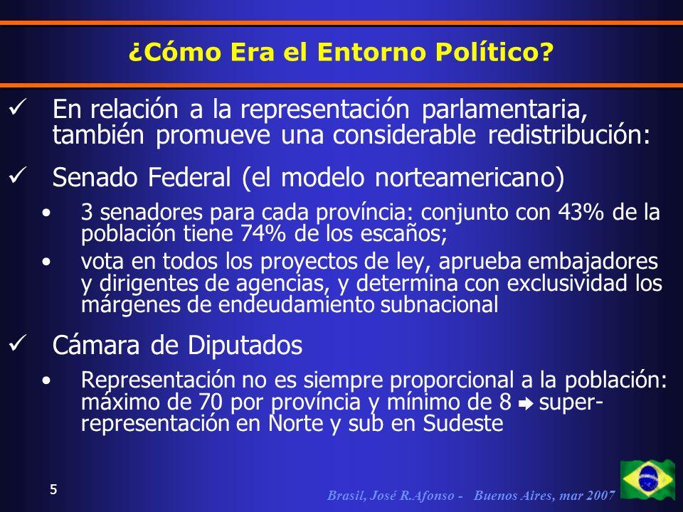 Brasil, José R.Afonso - Buenos Aires, mar 2007 5 ¿Cómo Era el Entorno Político.