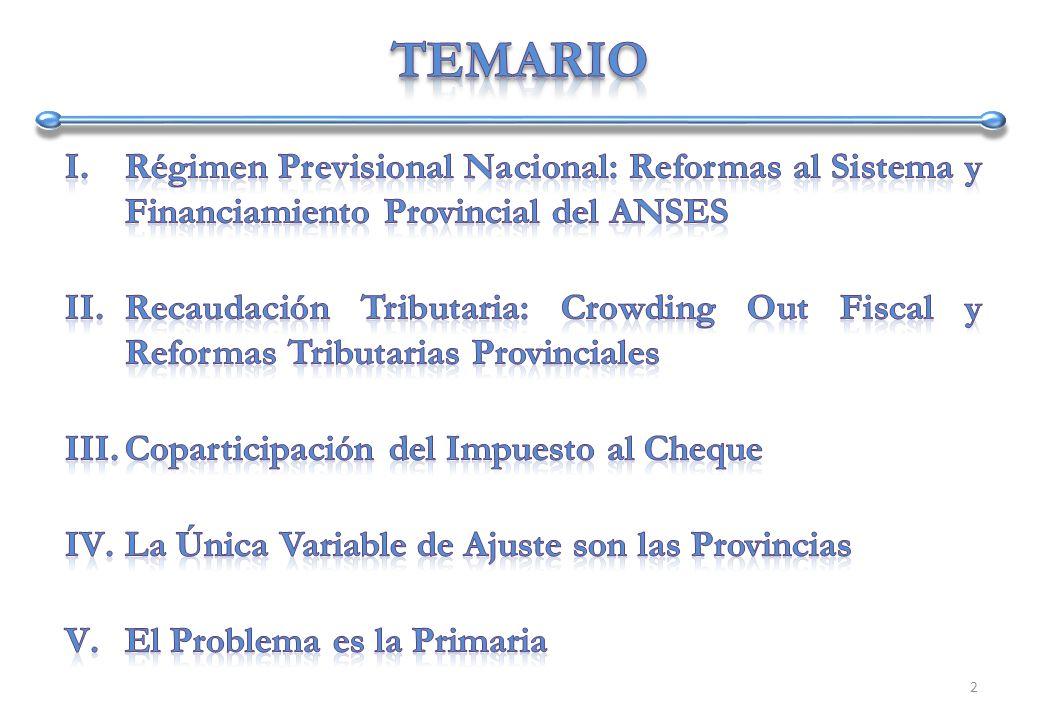 En orden de mantener el gasto medianamente controlado, en 2008 la única variable de ajuste del Gobierno Nacional son las Transferencias a Provincias 23
