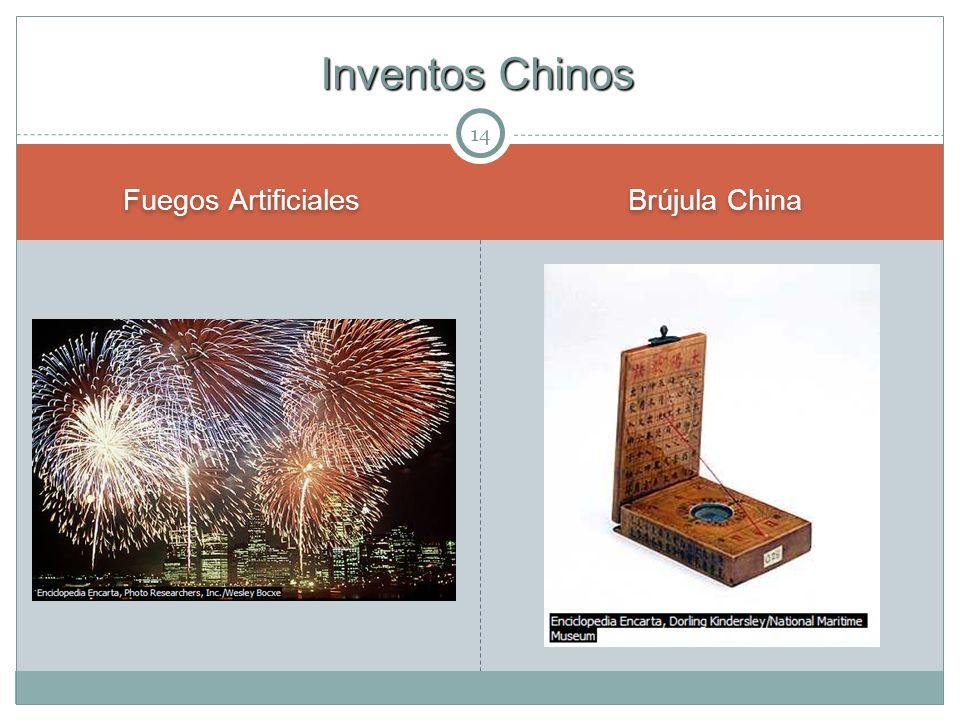 14 Fuegos Artificiales Brújula China Inventos Chinos