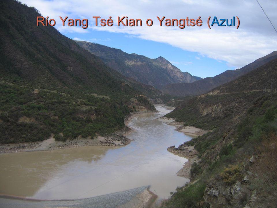 3 Río Yang Tsé Kian o Yangtsé (Azul)