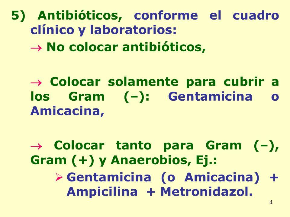 5 6) Ranitidina: Dosis: 4 a 6 mg/Kg/día cada 8-12 horas IV lenta y diluida.