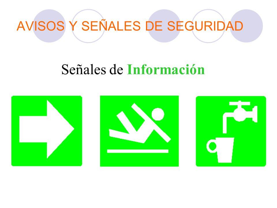 AVISOS Y SEÑALES DE SEGURIDAD Señales de Información