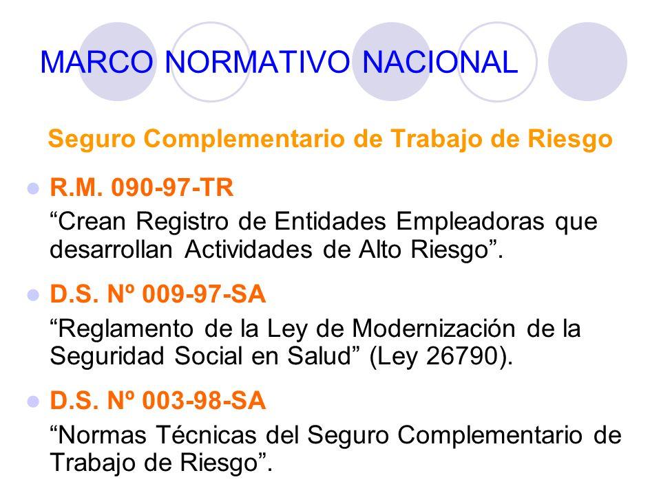 MARCO NORMATIVO NACIONAL R.M.