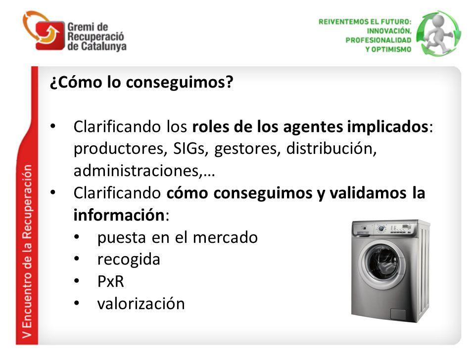 ¿Cómo lo conseguimos? Clarificando los roles de los agentes implicados: productores, SIGs, gestores, distribución, administraciones,… Clarificando cóm