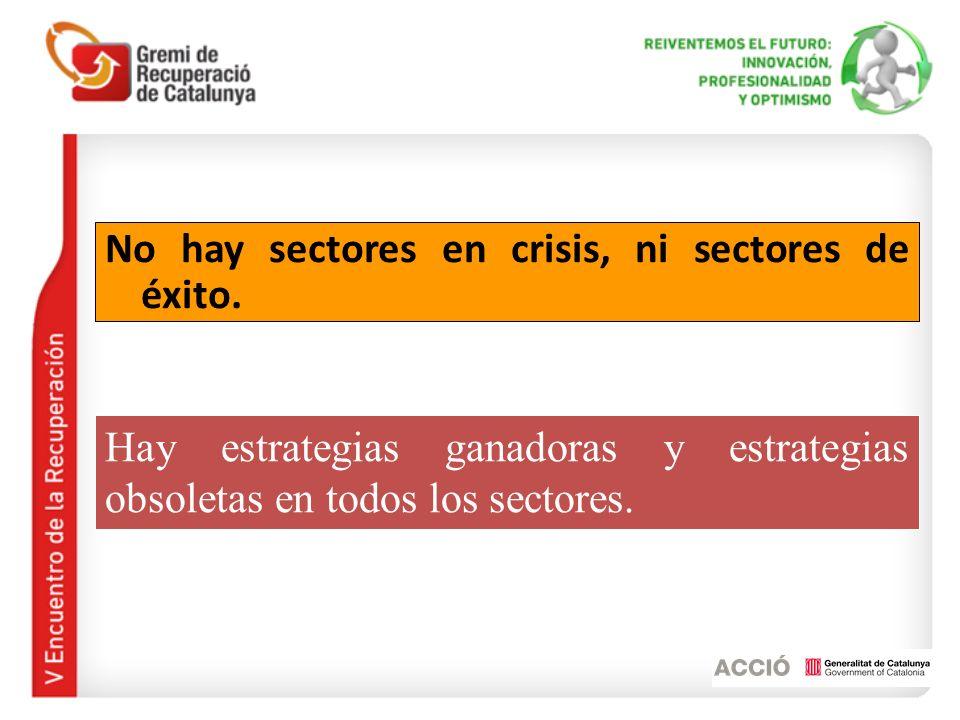 No hay sectores en crisis, ni sectores de éxito.