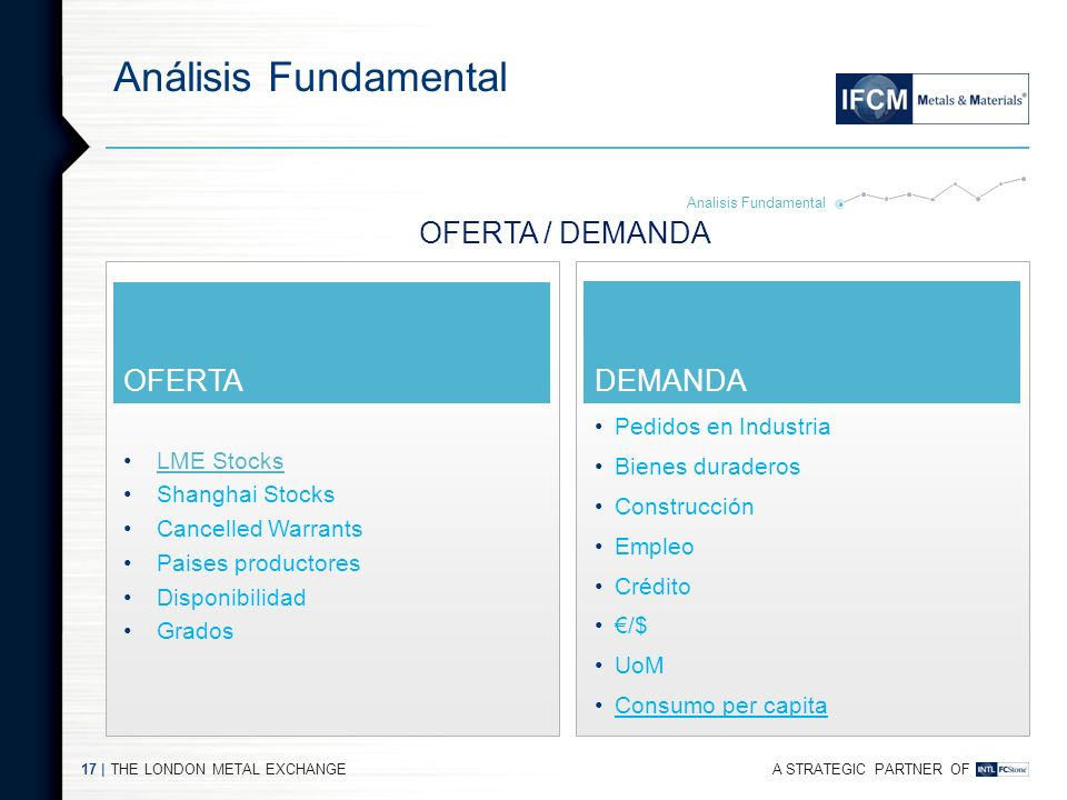 A STRATEGIC PARTNER OF Análisis Fundamental THE LONDON METAL EXCHANGE16 | GRADOS