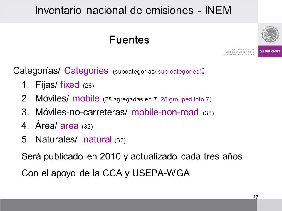 Categorías/ Categories (subcategorías/ sub-categories) : 1.Fijas/ fixed (28) 2.Móviles/ mobile (28 agregadas en 7, 28 grouped into 7) 3.Móviles-no-car