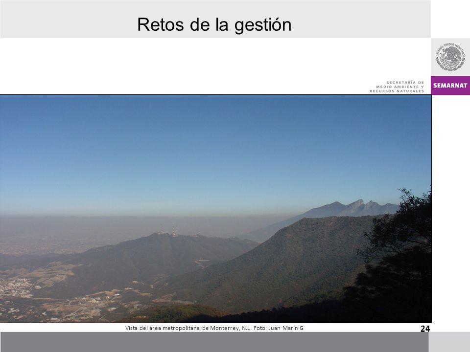 24 Vista del área metropolitana de Monterrey, N.L. Foto: Juan Marín G Retos de la gestión