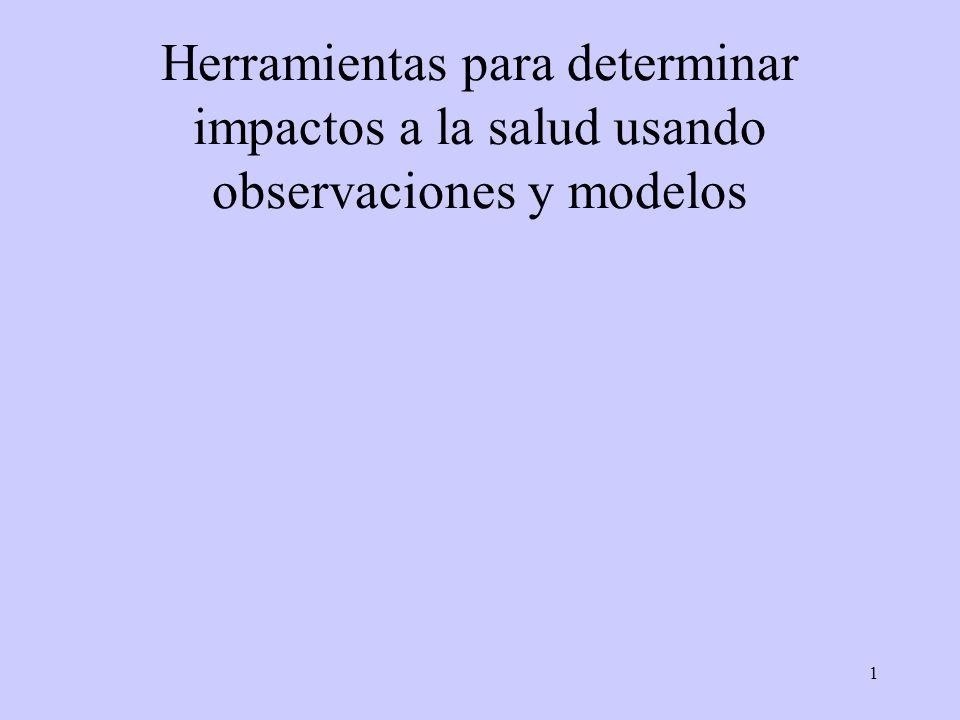 1 Herramientas para determinar impactos a la salud usando observaciones y modelos