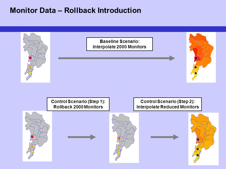 15 Monitor Data – Rollback Introduction Baseline Scenario: Interpolate 2000 Monitors Control Scenario (Step 1): Rollback 2000 Monitors Control Scenari