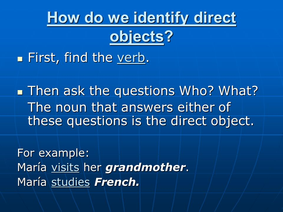 Why use direct object pronouns in a sentence.