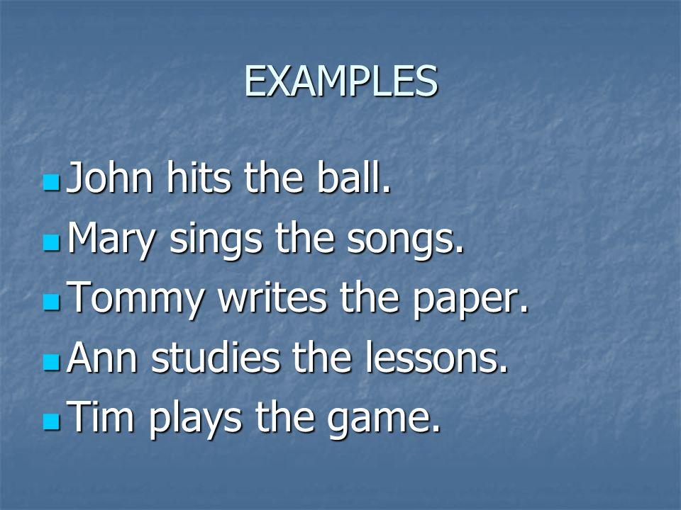 Identify the subject John hits the ball.John hits the ball.