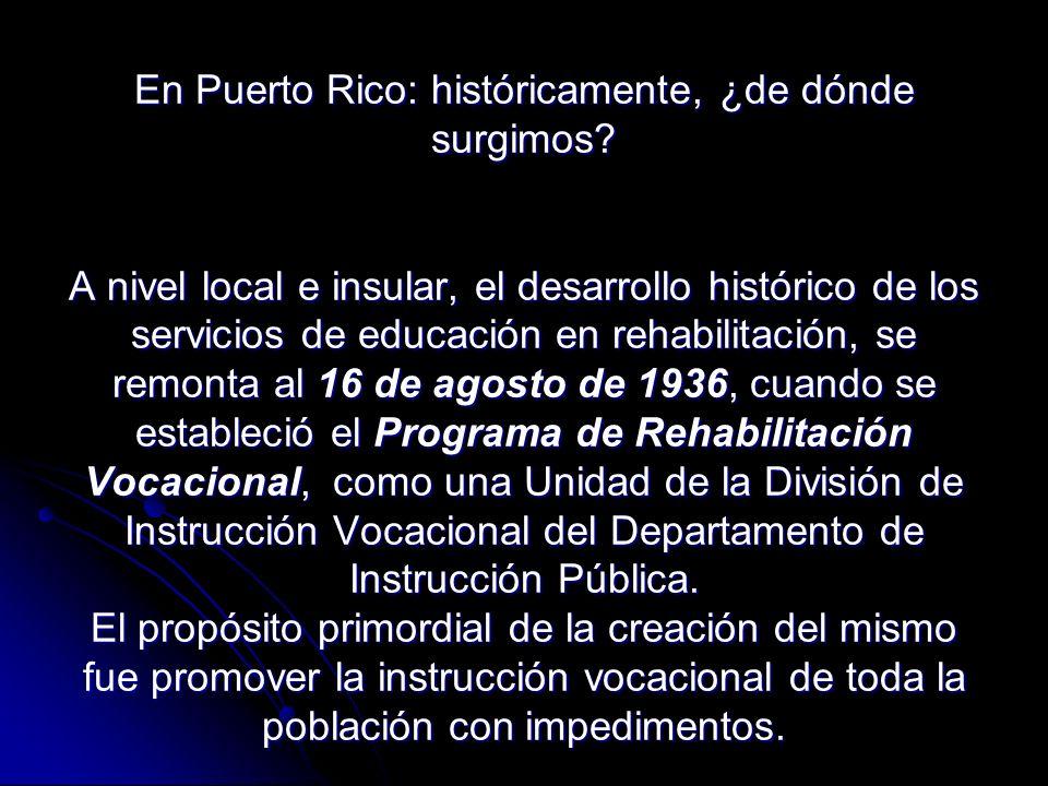 En Puerto Rico: históricamente, ¿de dónde surgimos.