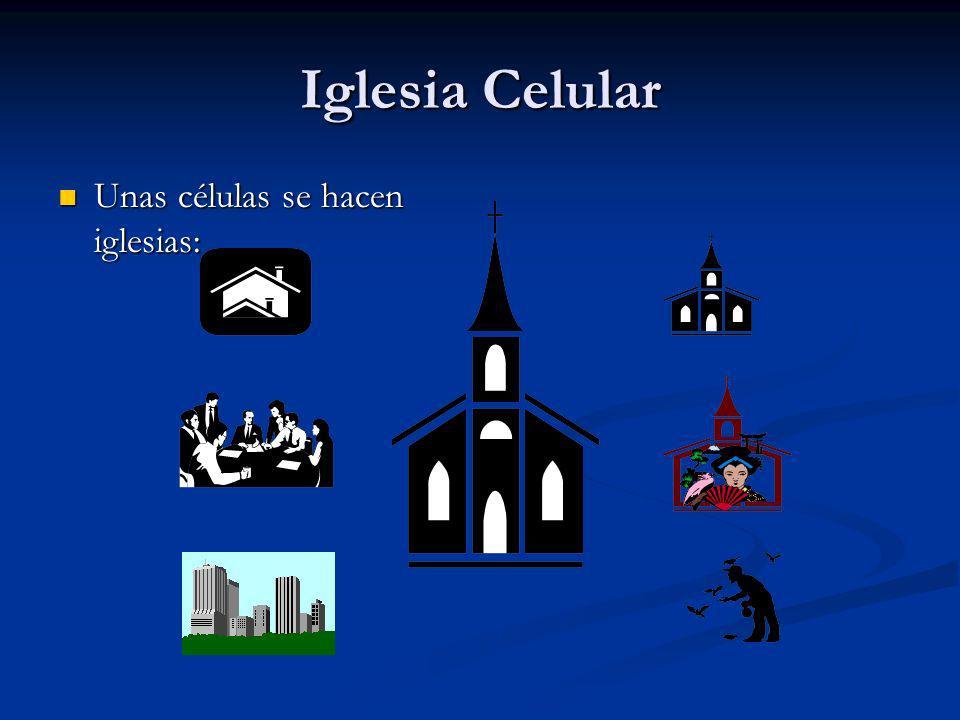 Iglesia Celular Unas células se hacen iglesias: Unas células se hacen iglesias: