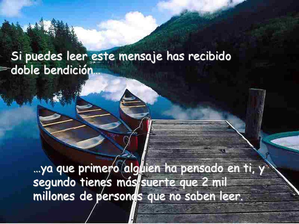 Cuenta tus bendiciones y transmite este mensaje a los demás para que se den cuenta de la bendiciones que ya tienen.