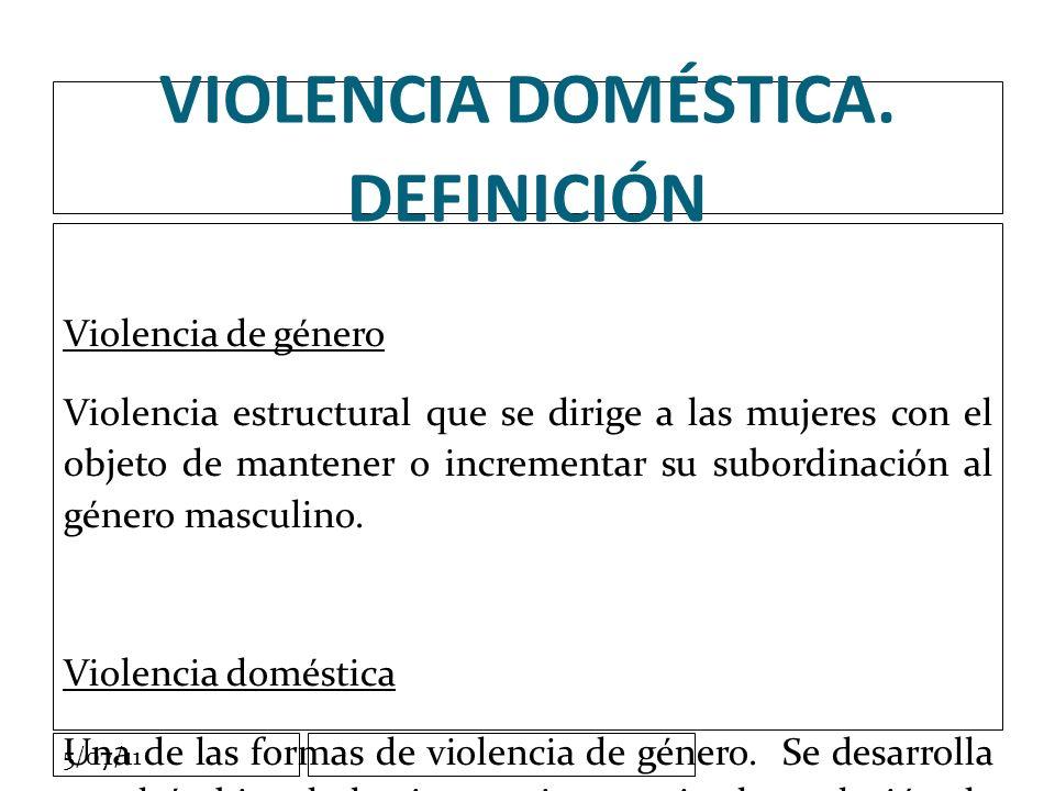 5/07/11 VIOLENCIA DOMÉSTICA.