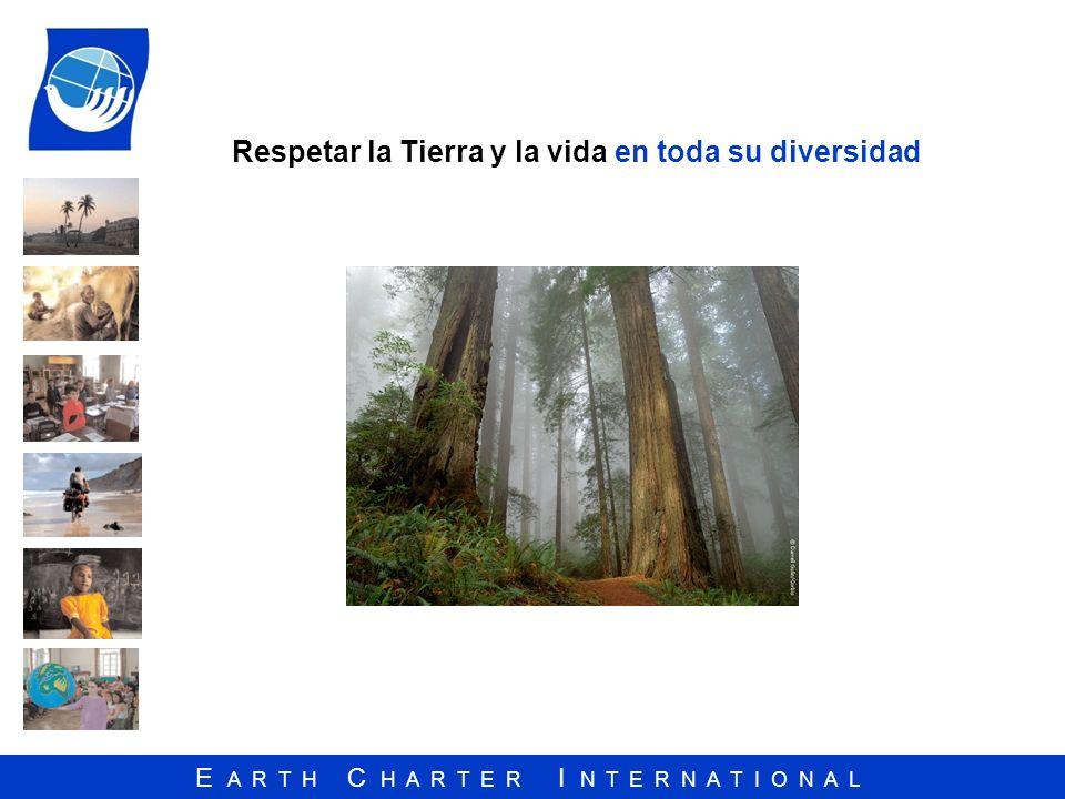 E A R T H C H A R T E R I N T E R N A T I O N A L Respetar la Tierra y la vida en toda su diversidad