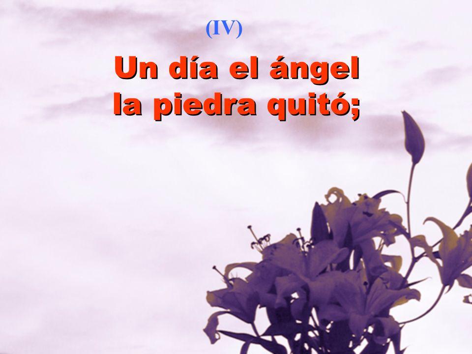 Un día el ángel la piedra quitó; (IV)