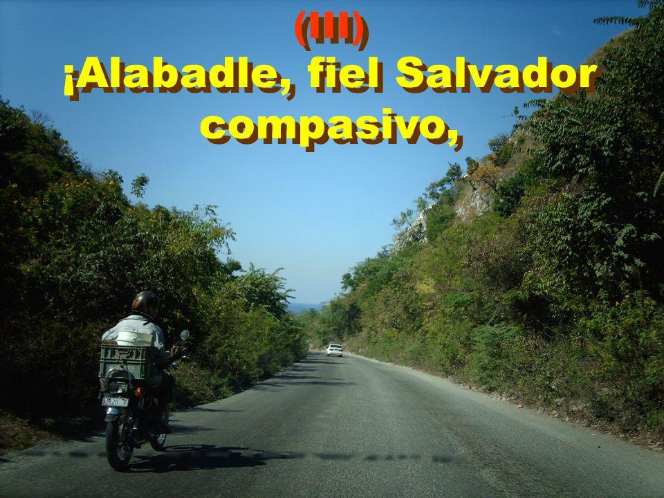(III) ¡Alabadle, fiel Salvador compasivo, (III) ¡Alabadle, fiel Salvador compasivo,