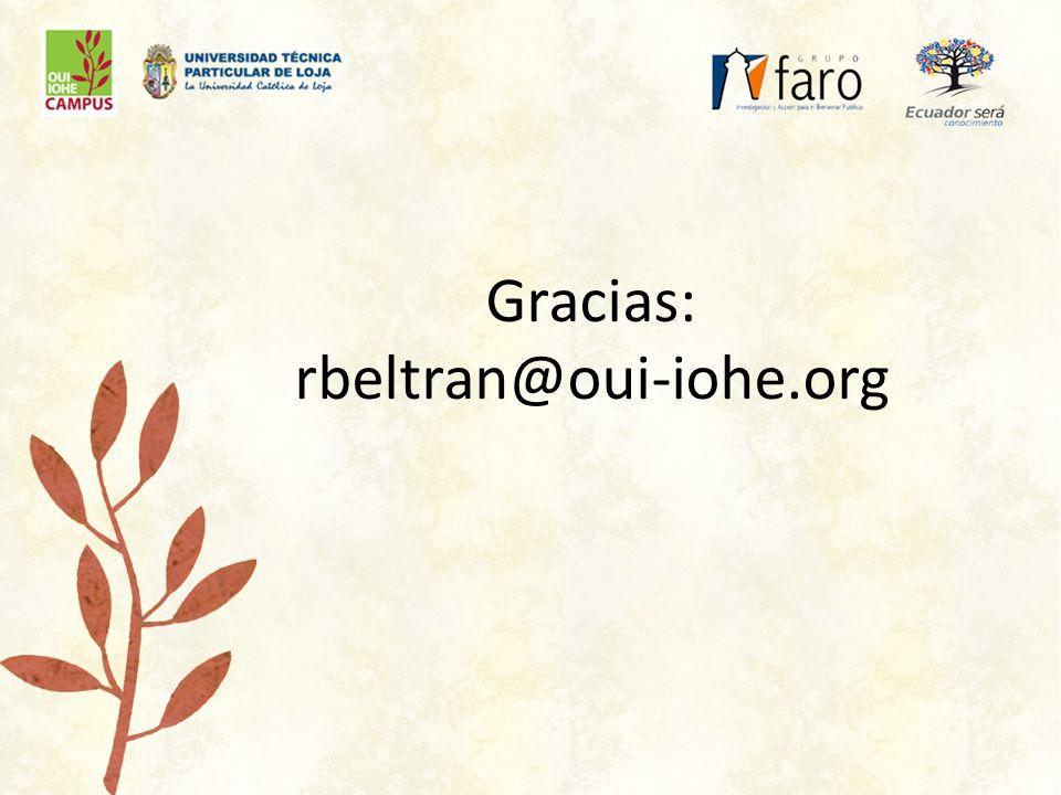 Gracias: rbeltran@oui-iohe.org