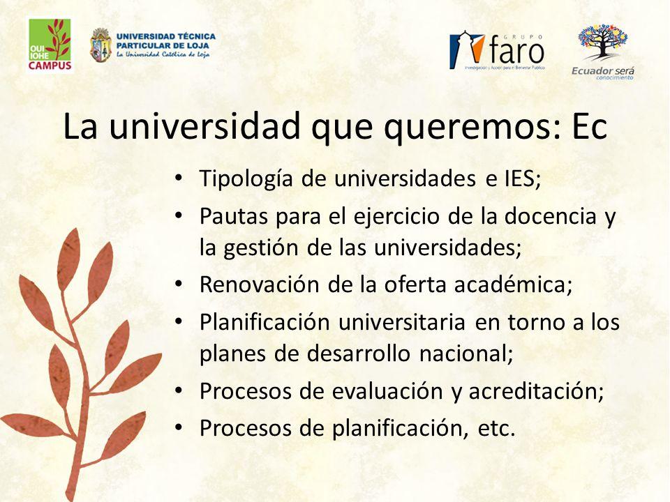 ¿Universidad e innovación?: Ec