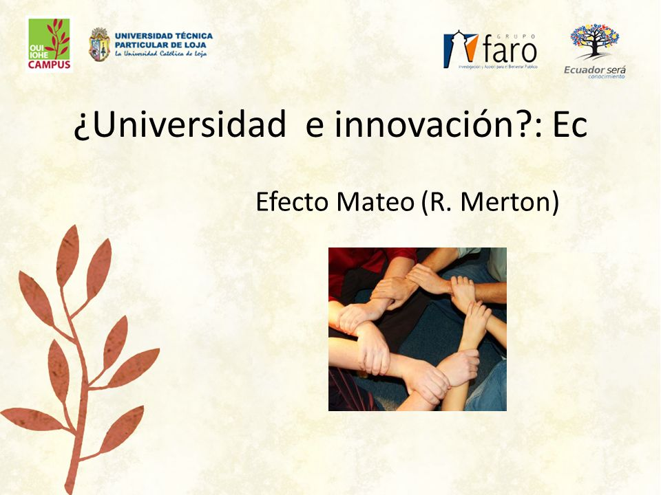 Efecto Mateo (R. Merton)